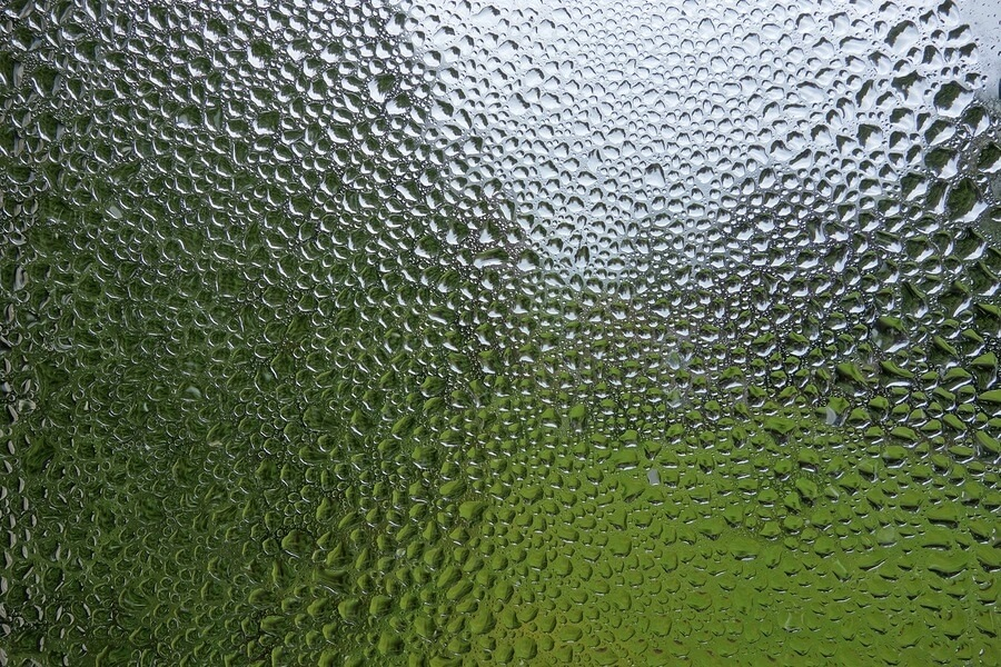Water condensation on window